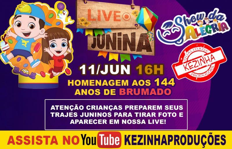 Live de  Kezinha para comemorar o aniversário de Brumado é nessa sexta-feira dia 11