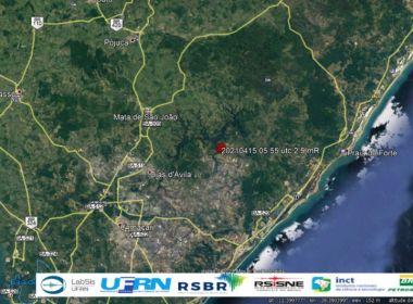 Tremor de terra é registrado em Ipiaú e Dias d'Ávila
