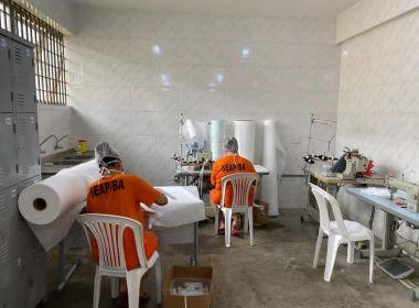 Detentos da Bahia já produziram mais de 8 mil máscaras para profissionais da saúde