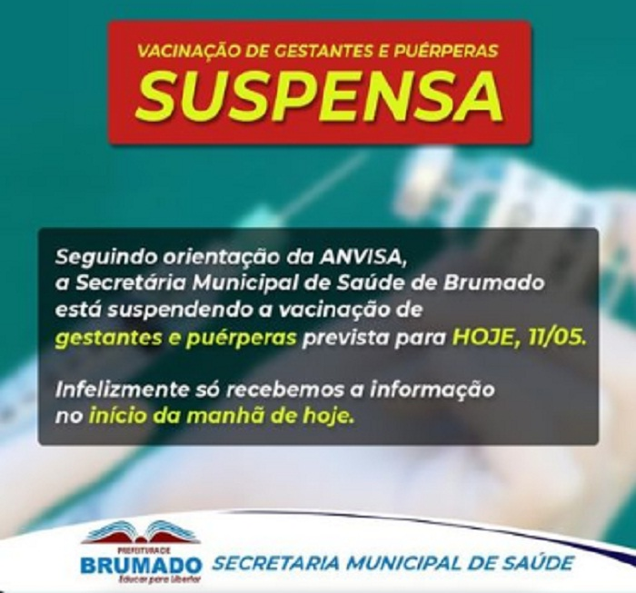Anvisa orienta suspensão de vacina da Astrazeneca/Fiocruz para grávidas, vacinação foi suspensa em Brumado