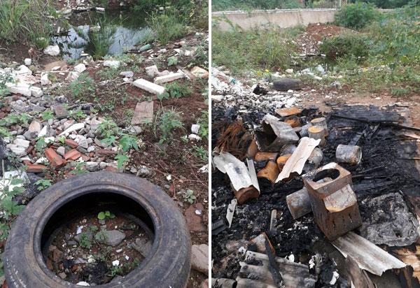 Brumado: Moradores do bairro Santa Tereza cobram da prefeitura providências quanto ao descarte irregular de lixo por populares