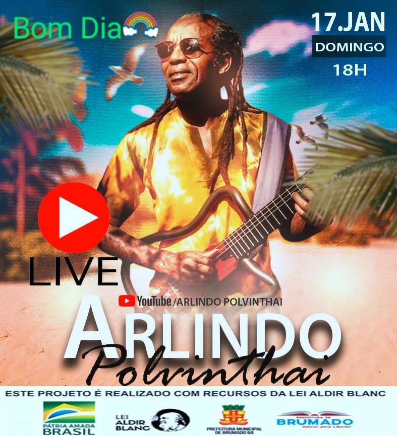 Live: Arlindo Polvinthan neste domingo 17/01 às 18:00hs