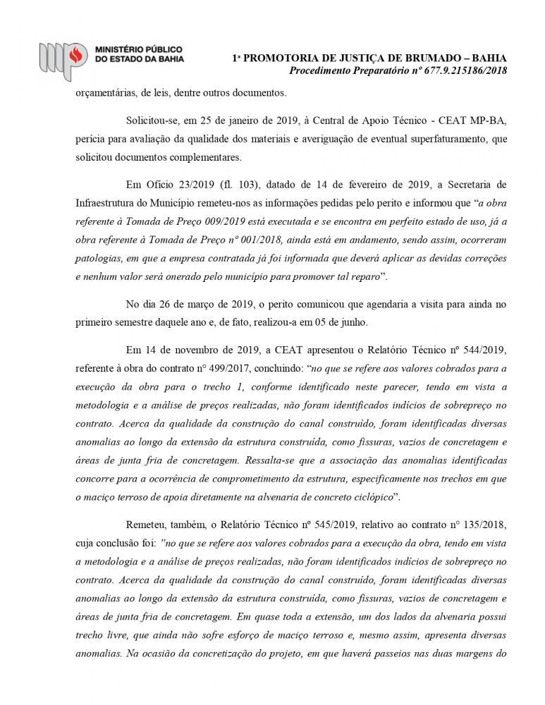 Ministério Público abre Inquérito Civil para apurar obras Irregulares dos Canais dos Riachos Bate-Pé e Sapé