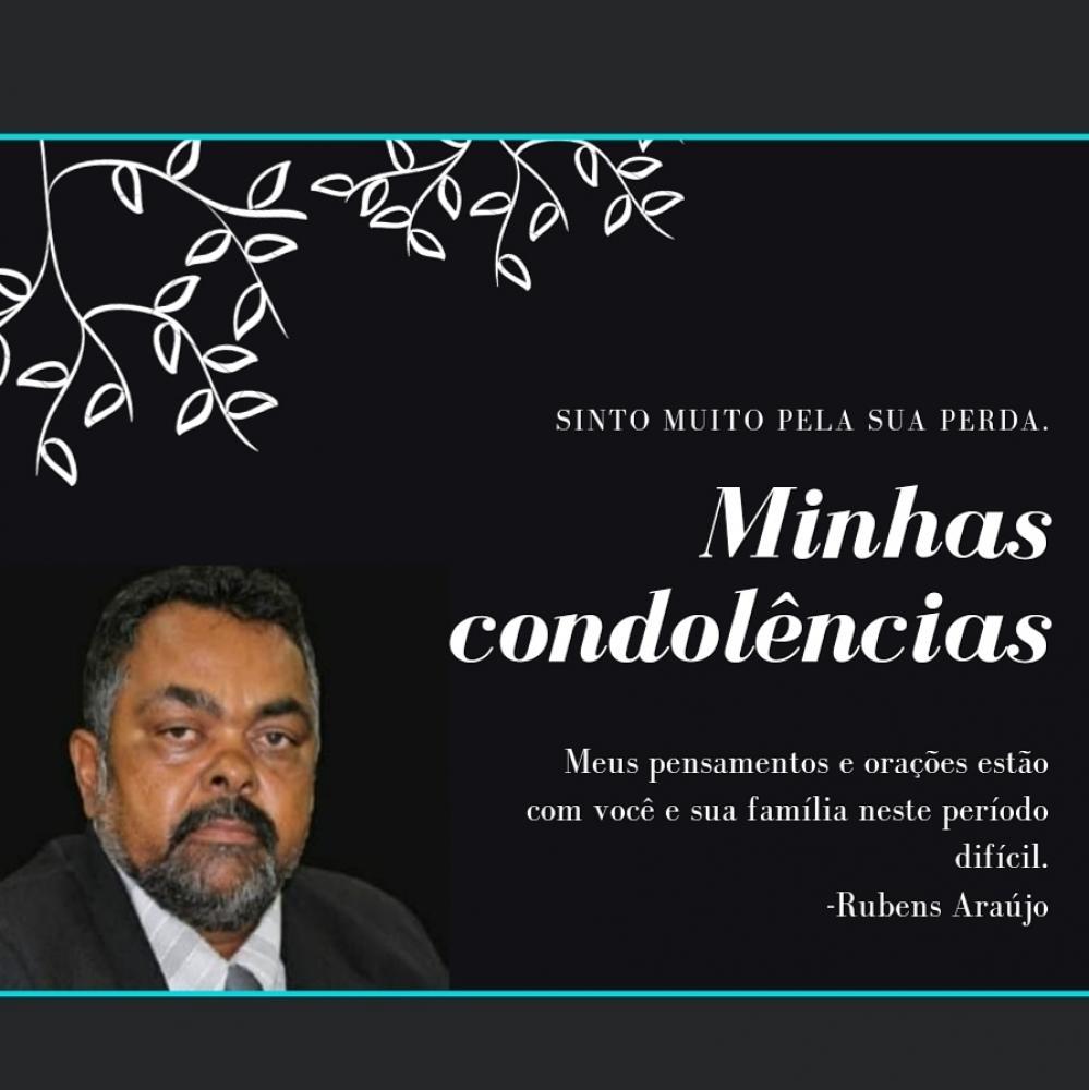 VEREADOR RUBENS EXPRESSA SUAS CONDOLÊNCIAS PELA MORTE DO COLEGA VEREADOR ZE CARLOS DE JONAS
