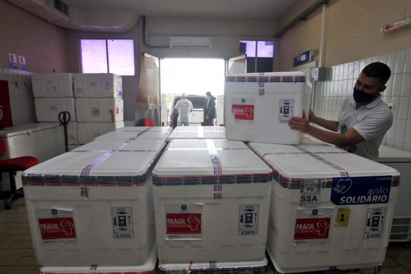 Covid-19: Bahia receberá 566.750 doses de vacinas para 2ª dose